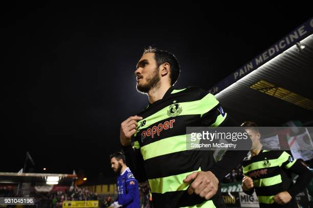 Cork Ireland 12 March 2018 Joey O'Brien of Shamrock Rovers runs out to make his club debut prior to the SSE Airtricity League Premier Division match...