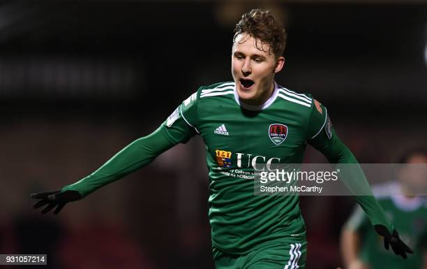 Cork Ireland 12 March 2018 Kieran Sadlier of Cork City celebrates after scoring his side's first goal during the SSE Airtricity League Premier...