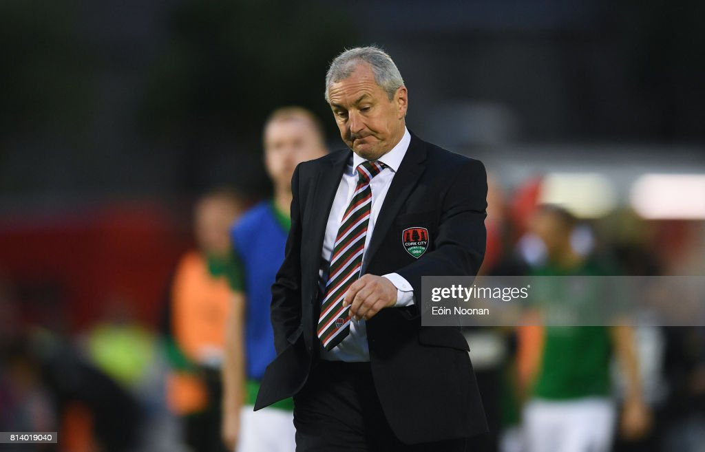 Cork , Ireland - 13 July 2017; Cork City manager John Caulfield after the UEFA Europa League Second Qualifying Round First Leg match between Cork City and AEK Larnaca at Turner's Cross in Cork.