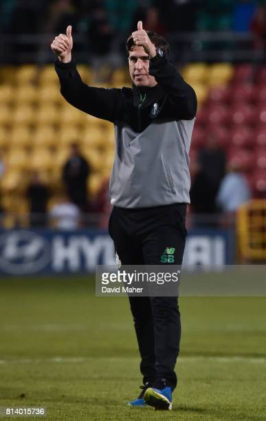 Cork Ireland 13 July 2017 Shamrock Rovers manager Stephen Bradley after the UEFA Europa League Second Qualifying Round First Leg match between...