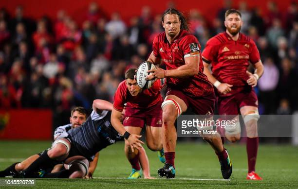 Cork Ireland 14 September 2018 Arno Botha of Munster during the Guinness PRO14 Round 3 match between Munster and Ospreys at Irish Independent Park in...