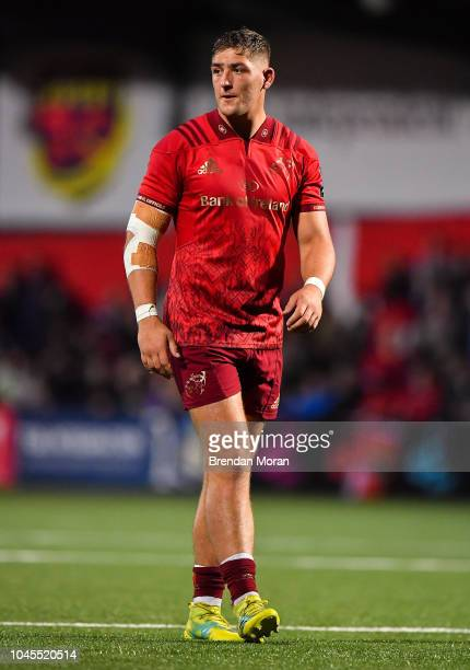 Cork Ireland 14 September 2018 Dan Goggin of Munster during the Guinness PRO14 Round 3 match between Munster and Ospreys at Irish Independent Park in...