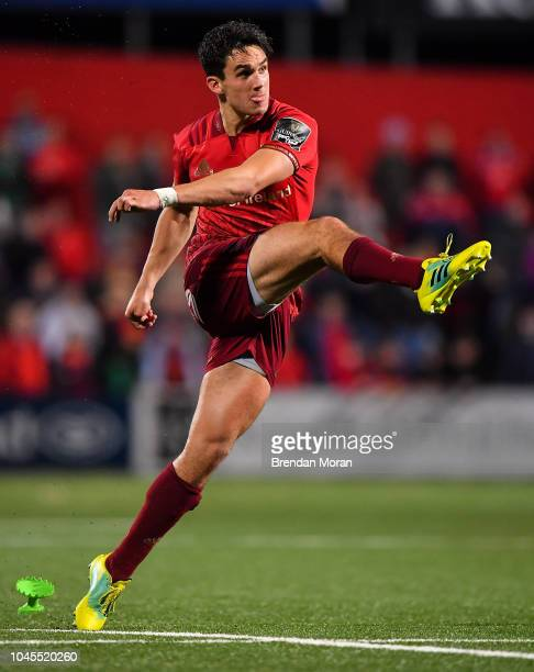 Cork Ireland 14 September 2018 Joey Carbery of Munster during the Guinness PRO14 Round 3 match between Munster and Ospreys at Irish Independent Park...