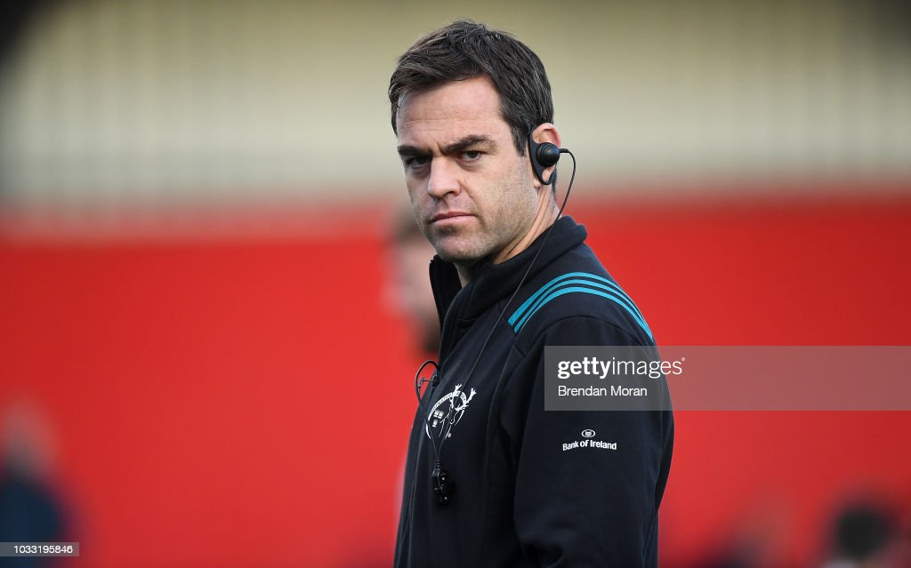 Cork , Ireland - 14 September 2018; Munster head coach Johann van Graan prior to the Guinness PRO14 Round 3 match between Munster and Ospreys at Irish Independent Park in Cork.