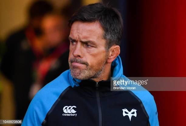Cork Ireland 14 September 2018 Ospreys head coach Allen Clarke during the Guinness PRO14 Round 3 match between Munster and Ospreys at Irish...