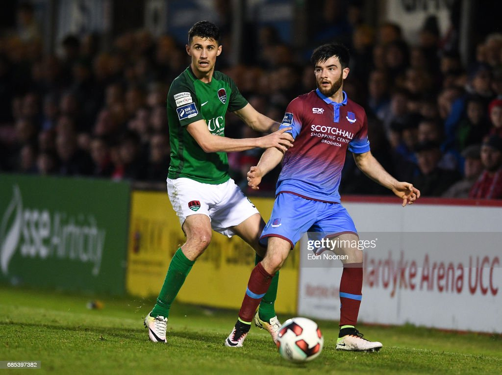 Cork , Ireland - 19 May 2017; Adam Wixted of Drogheda United in action against Shane Griffin of Cork City during the SSE Airtricity League Premier Division game between Cork City and Drogheda United at Turners Cross in Cork.