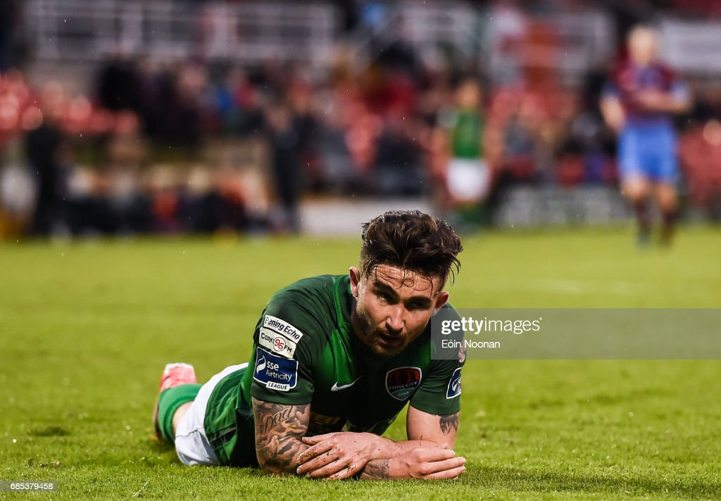 Cork , Ireland - 19 May 2017; Sean Maguire of Cork City reacts after missing a goal chance during the SSE Airtricity League Premier Division game between Cork City and Drogheda United at Turners Cross in Cork.