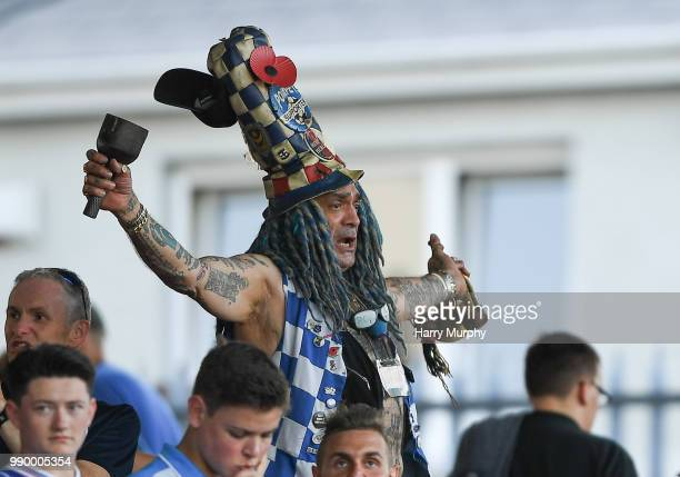 Cork Ireland 2 July 2018 Portsmouth supporter John Anthony Portsmouth Football Club Westwood after the preseason friendly match between Cork City and...