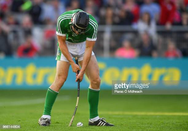 Cork Ireland 2 June 2018 Pat Ryan of Limerick misses a late goal chance during the Munster GAA Hurling Senior Championship Round 3 match between Cork...