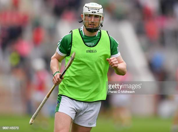 Cork Ireland 2 June 2018 Séamus Hickey of Limerick in the warmup before the Munster GAA Hurling Senior Championship Round 3 match between Cork and...
