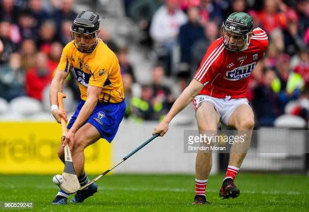 Cork Ireland 20 May 2018 David Reidy of Clare in action against Mark Coleman of Cork during the Munster GAA Hurling Senior Championship Round 1 match...