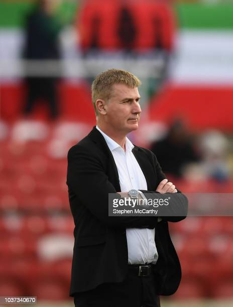 Cork Ireland 21 September 2018 Dundalk manager Stephen Kenny during the SSE Airtricity League Premier Division match between Cork City and Dundalk at...