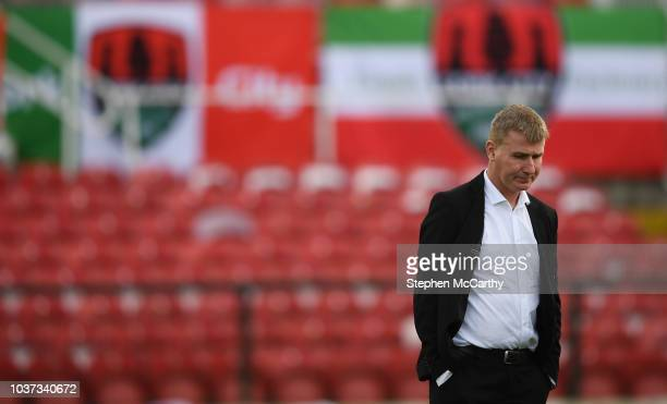 Cork Ireland 21 September 2018 Dundalk manager Stephen Kenny prior to the SSE Airtricity League Premier Division match between Cork City and Dundalk...