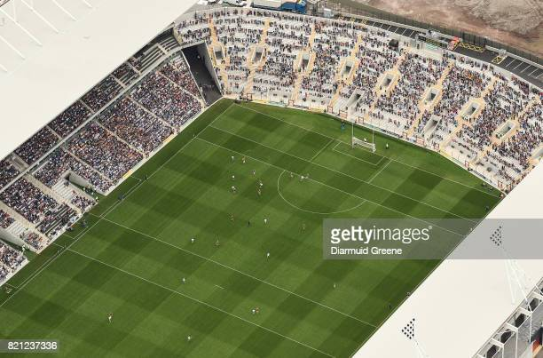 Cork Ireland 23 July 2017 An aerial view of Páirc Ui Chaoimh as Kevin Moran of Waterford takes on David Redmond of Wexford during the GAA Hurling...