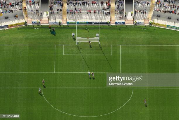 Cork Ireland 23 July 2017 An aerial view of Páirc Ui Chaoimh as Wexford goalkeeper Mark Fanning watches a point from Michael Walsh of Waterford...