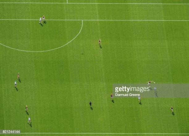 Cork Ireland 23 July 2017 An aerial view of Páirc Ui Chaoimh as Michael Walsh of Waterford shoots to score a point despite the efforts of Willie...