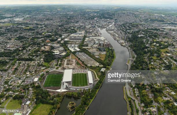 Cork Ireland 23 July 2017 An aerial view of Páirc Ui Chaoimh during the prematch parade of the GAA Hurling AllIreland Senior Championship...