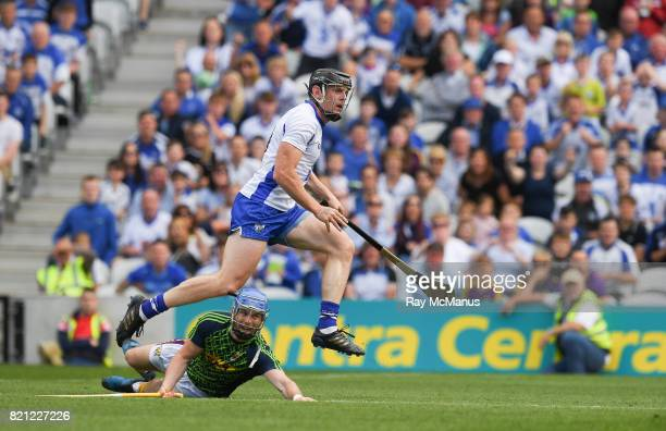 Cork Ireland 23 July 2017 Kevin Moran of Waterford watches his shot hit the back of the net to score a goal in the 37th minute during the GAA Hurling...