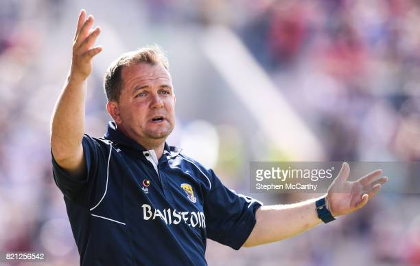 Cork , Ireland - 23 July 2017; Wexford manager Davy Fitzgerald reacts during the GAA Hurling All-Ireland Senior Championship Quarter-Final match...