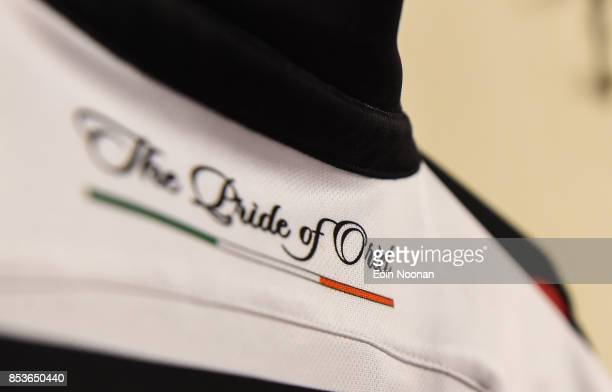 Cork , Ireland - 25 September 2017; A detailed view of the Dundalk jersey ahead of the SSE Airtricity Premier Division match between Cork City and...