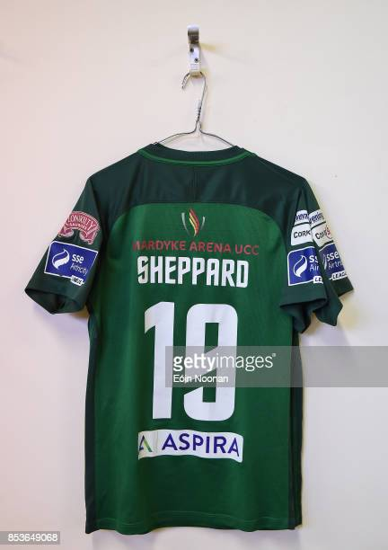 Cork Ireland 25 September 2017 A general view of the jersey assigned to Karl Sheppard hanging in the dressing room ahead of the SSE Airtricity...
