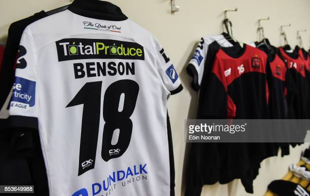 Cork Ireland 25 September 2017 A general view of the jersey assigned to Robbie Benson hanging in the dressing room ahead of the SSE Airtricity...
