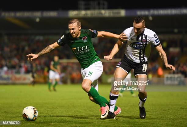 Cork , Ireland - 25 September 2017; Karl Sheppard of Cork City in action against Dylan Connolly of Dundalk during the SSE Airtricity Premier Division...