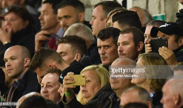 Cork , Ireland - 25 September 2017; Republic of Ireland assistant manager Roy Keane watches on during the SSE Airtricity Premier Division match...