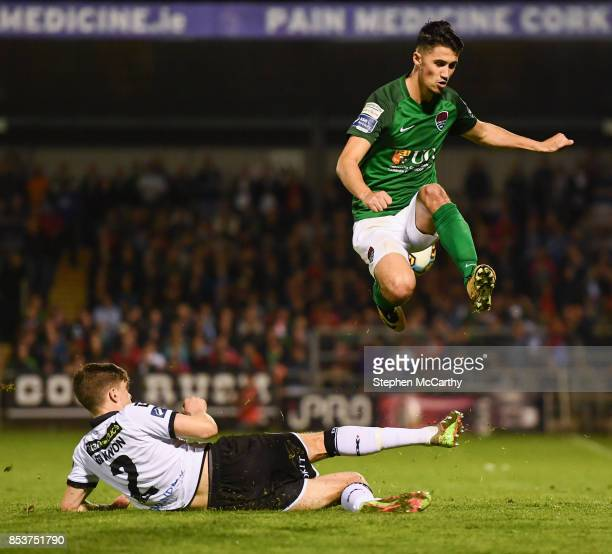 Cork , Ireland - 25 September 2017; Shane Griffin of Cork City in action against Sean Gannon of Dundalk during the SSE Airtricity Premier Division...