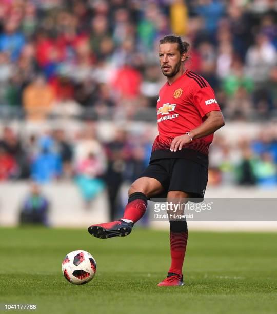 Cork Ireland 25 September 2018 Alan Smith of Manchester United Legends during the Liam Miller Memorial match between Manchester United Legends and...