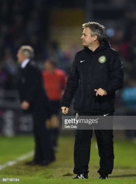 Cork , Ireland - 27 October 2017; Bray Wanderers manager Harry Kenny during the SSE Airtricity League Premier Division match between Cork City and...