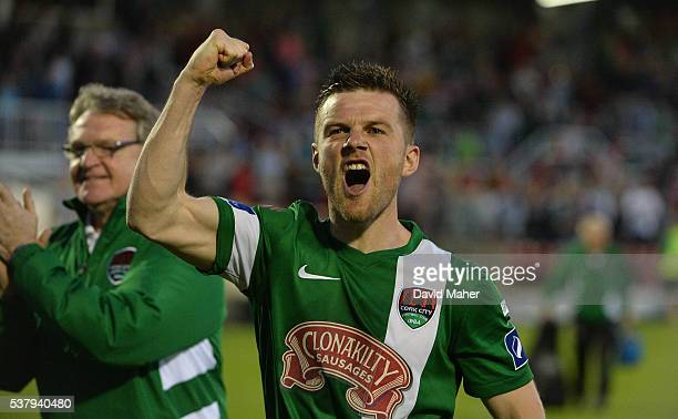 Cork Ireland 3 June 2016 Steven Beattie of Cork City celebrates at the end of the game after the SSE Airtricity League Premier Division between Cork...
