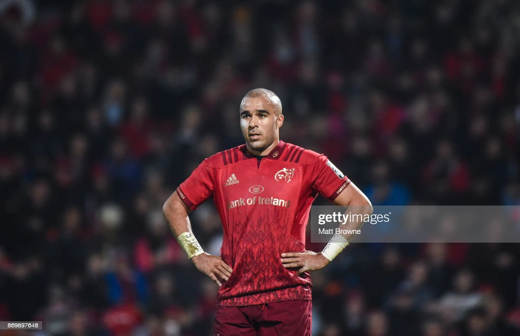 Cork , Ireland - 3 November 2017; Simon Zebo of Munster during the Guinness PRO14 Round 8 match between Munster and Dragons at Irish Independent Park in Cork.