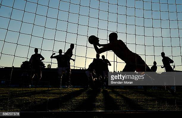 Cork Ireland 31 May 2016 Andrei Klimovich of Belarus makes a save during the EURO2016 Warmup International between Republic of Ireland and Belarus in...