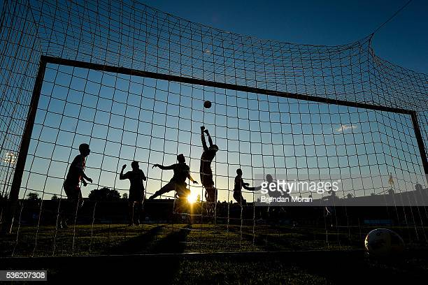 Cork Ireland 31 May 2016 Andrei Klimovich of Belarus punches the ball clear during the EURO2016 Warmup International between Republic of Ireland and...