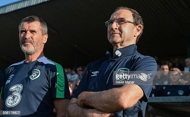 Cork Ireland 31 May 2016 Republic of Ireland manager Martin O'Neill and assistant manager Roy Keane left during the EURO2016 Warmup International...