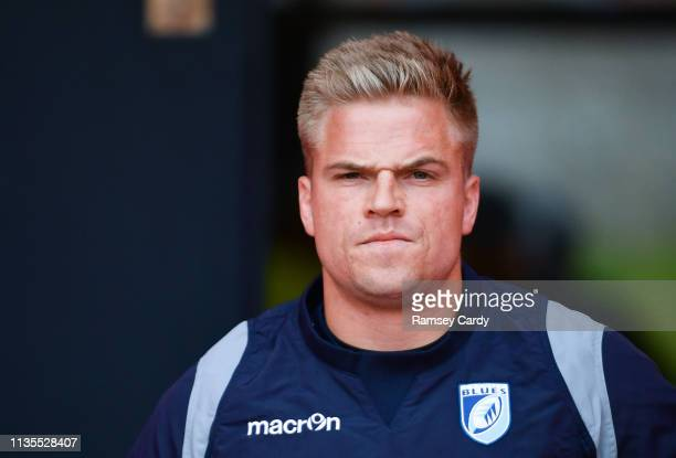 Cork Ireland 5 April 2019 Gareth Anscombe of Cardiff Blues ahead of the Guinness PRO14 Round 19 match between Munster and Cardiff Blues at Irish...