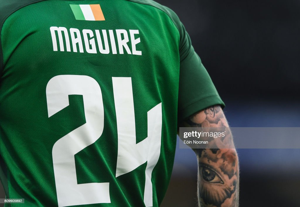 Cork , Ireland - 6 July 2017; A detailed view of the back of the jersey belonging too Sean Maguire of Cork City during the Europa League First Qualifying Round Second Leg match between Cork City and Levadia Tallinn at Turners Cross in Cork.