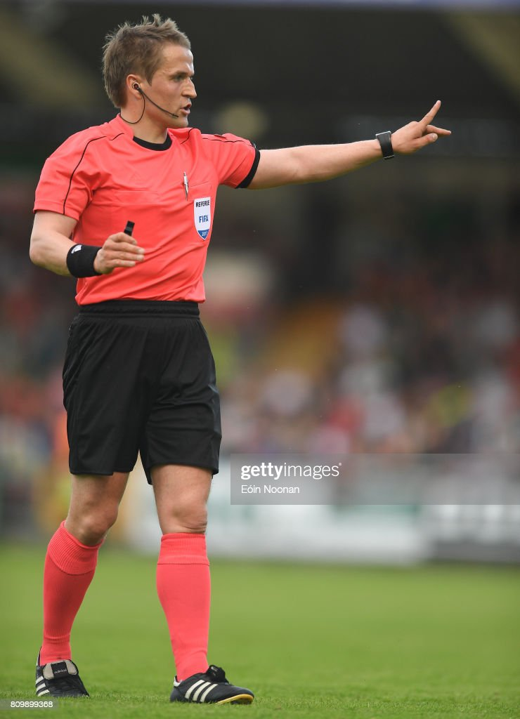 Cork , Ireland - 6 July 2017; Referee Gunnar Jarl Jónssson during the Europa League First Qualifying Round Second Leg match between Cork City and Levadia Tallinn at Turners Cross in Cork.