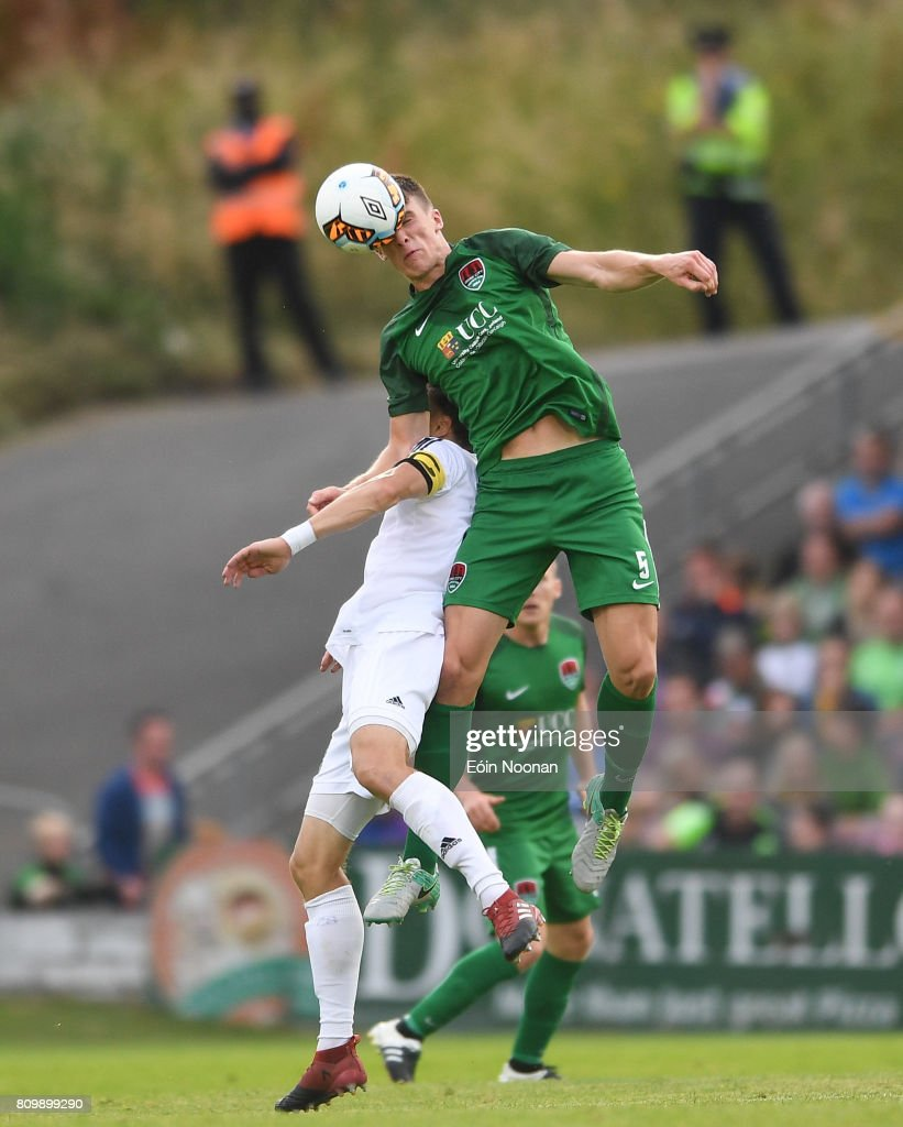 Cork , Ireland - 6 July 2017; Ryan Delaney of Cork City in action against Rimo Hunt of Levadia Tallinn during the Europa League First Qualifying Round Second Leg match between Cork City and Levadia Tallinn at Turners Cross in Cork.