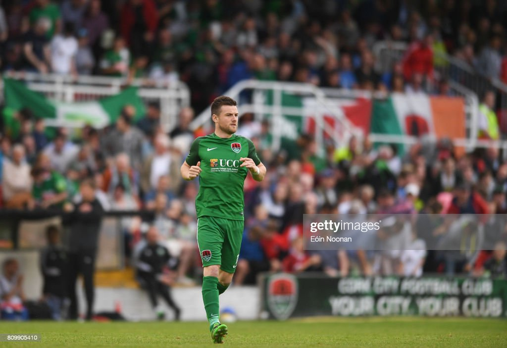 Cork , Ireland - 6 July 2017; Steven Beattie of Cork City makes his way onto the pitch during the Europa League First Qualifying Round Second Leg match between Cork City and Levadia Tallinn at Turners Cross in Cork.