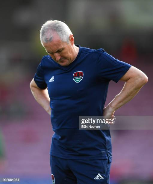 Cork Ireland 6 July 2018 Cork City manager John Caulfield prior to the SSE Airtricity League Premier Division match between Cork City and Shamrock...