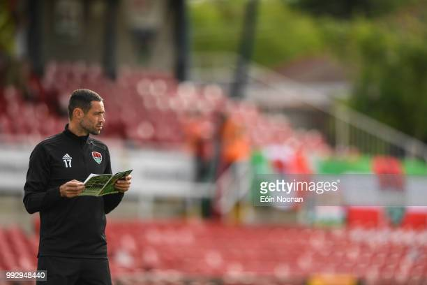 Cork Ireland 6 July 2018 Damien Delaney of Cork City walks the pitch prior to the SSE Airtricity League Premier Division match between Cork City and...
