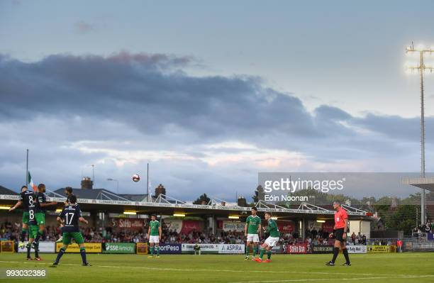 Cork Ireland 6 July 2018 Kieran Sadlier of Cork City takes a free kick for his side during the SSE Airtricity League Premier Division match between...