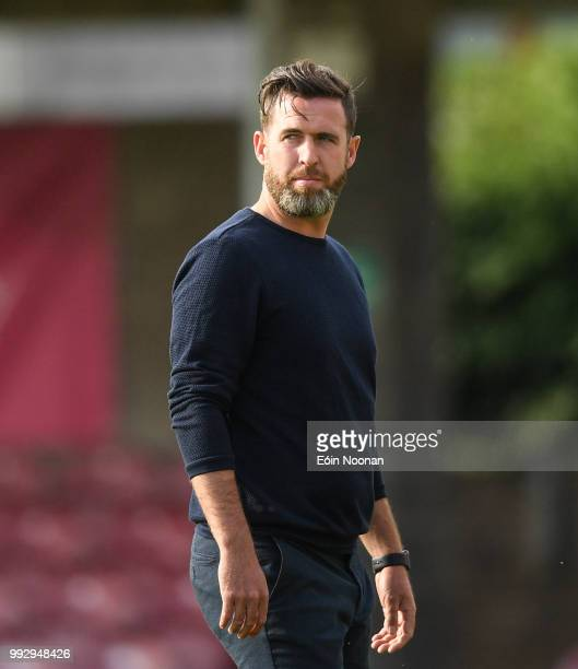Cork Ireland 6 July 2018 Shamrock Rovers manager Stephen Bradley prior to the SSE Airtricity League Premier Division match between Cork City and...