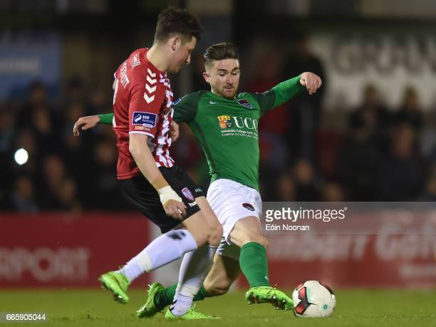 Cork Ireland 7 April 2017 Sean Maguire of Cork City in action against Connor McDermott of Derry City during the SSE Airtricity League Premier...