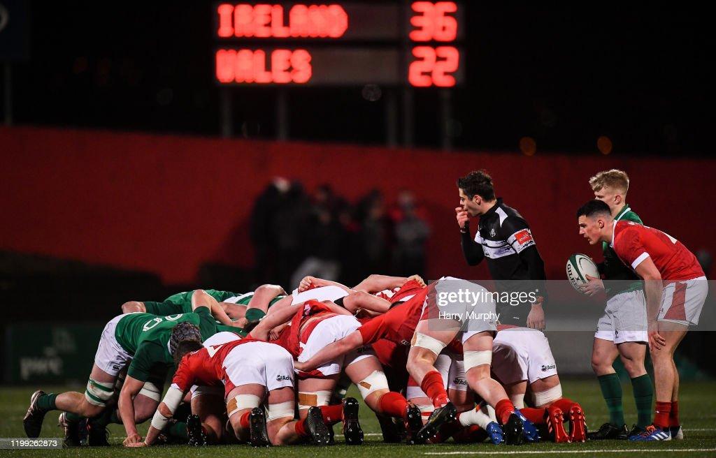 Ireland v Wales - U20 Six Nations Rugby Championship : News Photo