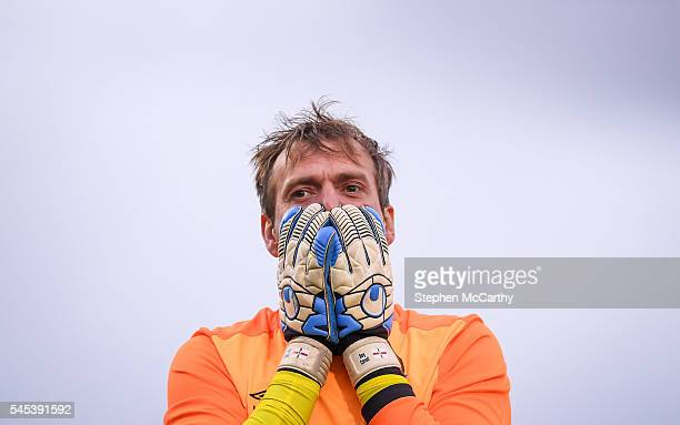 Cork , Ireland - 7 July 2016; Roy Carroll of Linfield reacts after his side conceded a penalty during the UEFA Europa League First Qualifying Round...