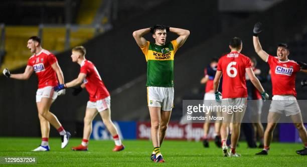 Cork , Ireland - 8 November 2020; A dejected Seán OShea after the final whistle of the Munster GAA Football Senior Championship Semi-Final match...