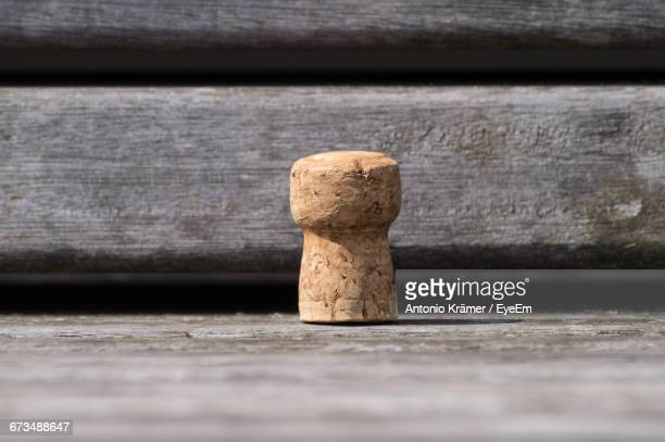 Cork On Bench During Sunny Day